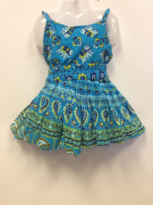 Rajasthani Print Skirt and Top - Blue