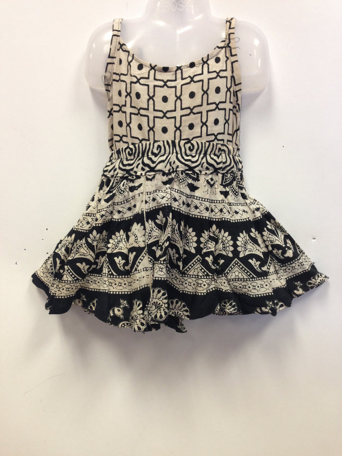 Rajasthani Cotton Skirt and Top - Balck and White