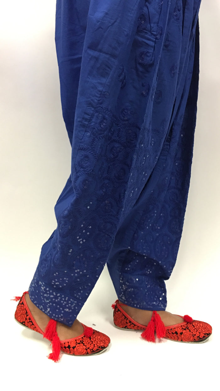 SALWAR WITH EMBROIDERY - Blue
