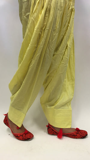 Plain Patiala - Yellow - 1