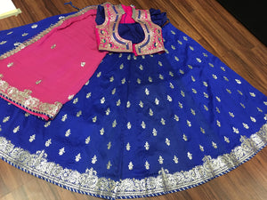 Bridal Silk Lehengha- Blue Pink - 6