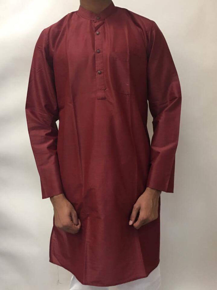 Men's Cotton Kurta-MAROON