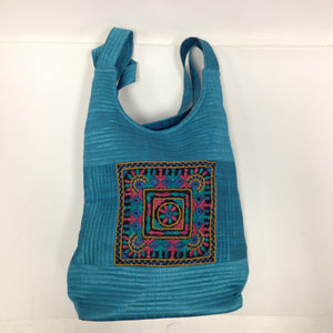 Handcrafted Embroidery Small Handbag - Golden, Blue, Maroon - 7