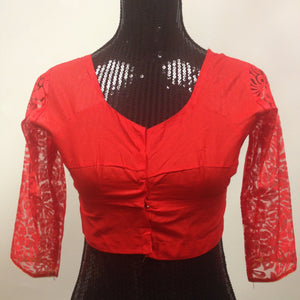 Net Blouse - Red - 1