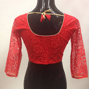 Net Blouse - Red - 2