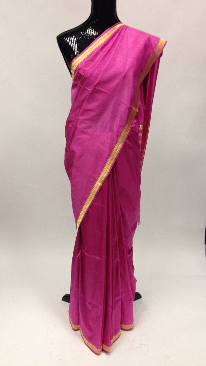 Pure Banarasi Silk Saree - Pink