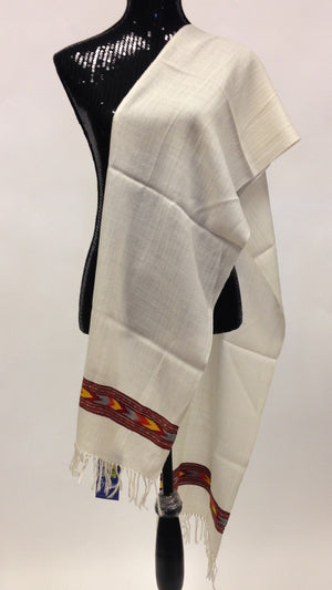 Himachal wool scarf - Off White - 2