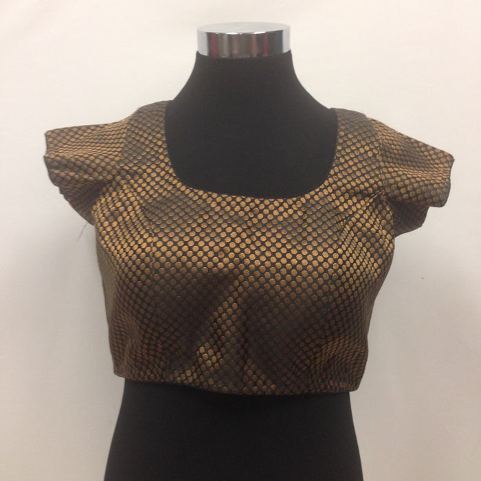 Brocade Blouse - Black & Golden