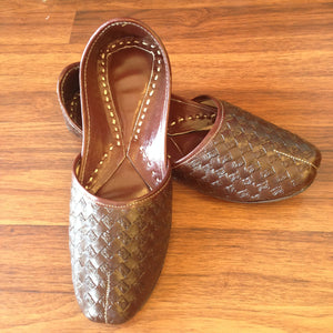 Pure Leather Juti - Chocalate Brown