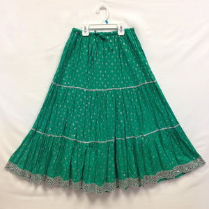 Girls Rajasthani Skirt - Green - 1