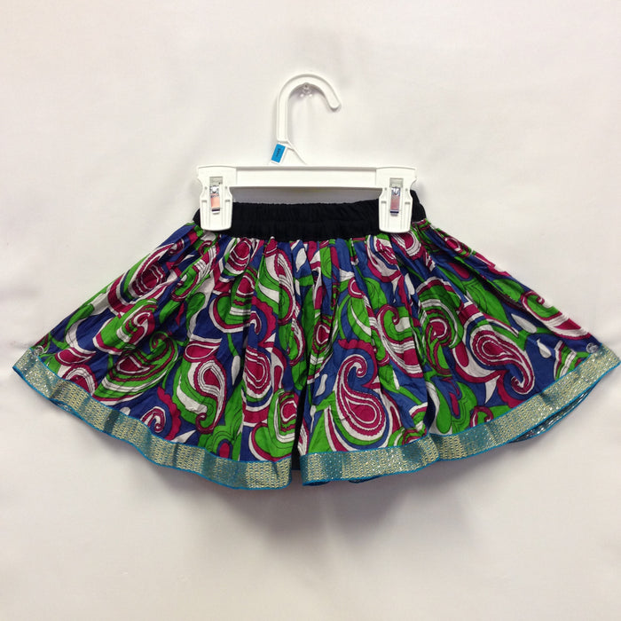 Girls Ghagra Flared Skirt - Blue