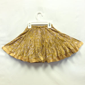 Girls Ghagra Flared Skirt - Gold