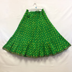 Girls Rajasthani Long Flared - Green