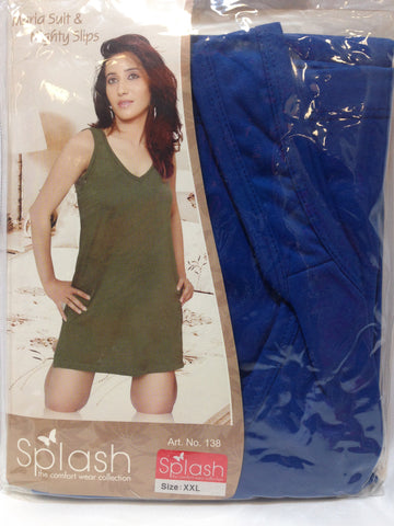 Women Splash Maria Suit & Nighty Slips - Blue - Sarang