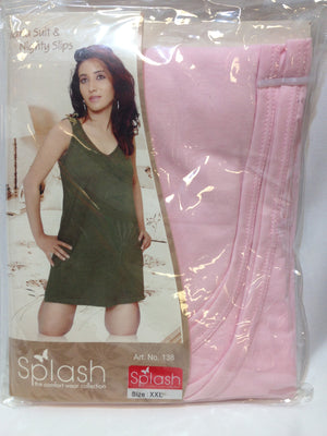 Women Splash Maria Suit & Nighty Slips - Light Pink - Sarang