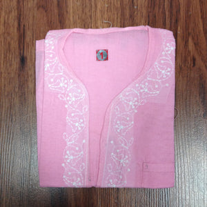 Unisex Cotton Embroidered Kurta - 5