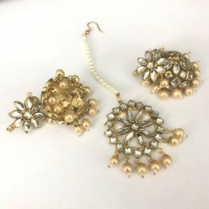 Jhumki & Tikka Set - Gold