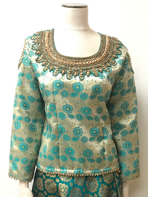 Brocade silk Tops