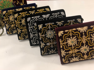 ZARDOZI work velvet Clutches