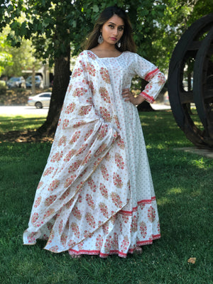 Maxi Dress with Dupatta