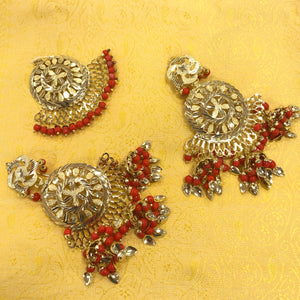 Punjabi Tika Earrings Set