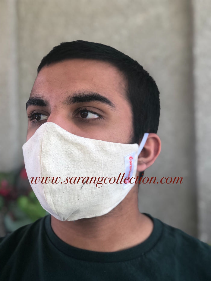 Linen Reusable Reversible Fabric Mask