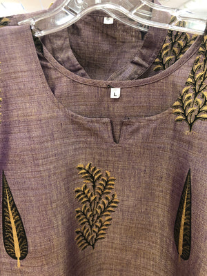 Silk Kurta with Hand prints