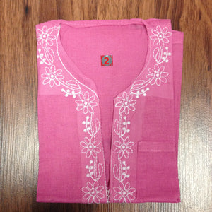 Unisex Cotton Embroidered Kurta - 4