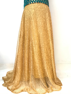 Modern Flowy Skirt - Gold
