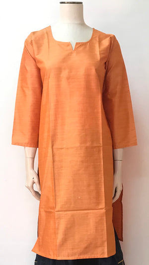 Cotton Silk Plain Kurta Collection