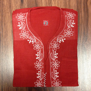 Unisex Cotton Embroidered Kurta - 13