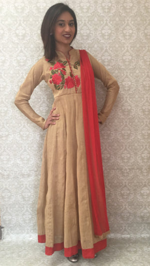 Party Wear Anarkali - Sarang