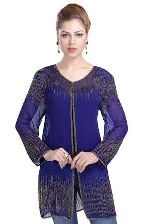 Beaded Short Drape/Jacket /Cape ( COLORS AVAILABLE)