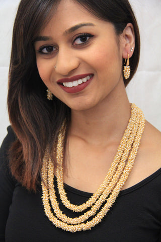 Traditional Indian Style Chandani Pearl Necklace - Sarang