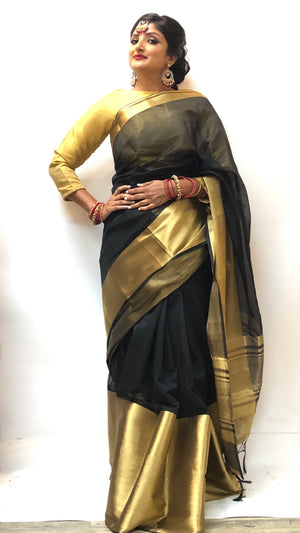 Gold Border Silk Saree