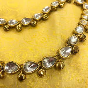 Gold Tone /Plated Anklet / Payal With Big Stones