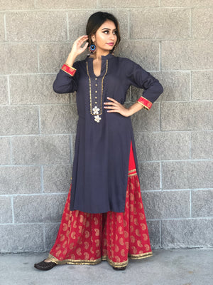 Long Kurta with Sharara Set