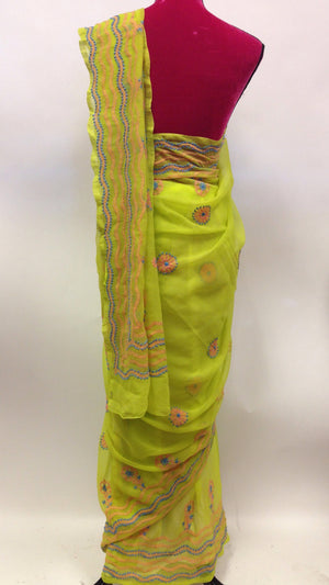 Georgette lucknowi Saree - 2
