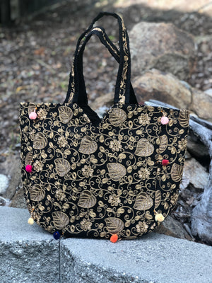 Boho Embroidered Tote Bag
