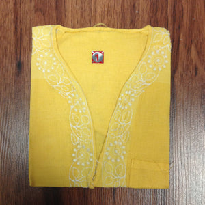 Unisex Cotton Embroidered Kurta - 8
