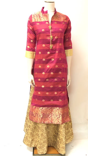 Formal Banarasi Kurta and Dupatta Set