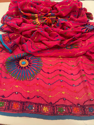 PHULKARI HAND EMBROIDERED DUPATTA