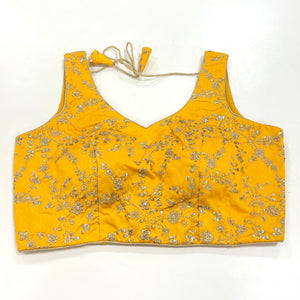 Custom Made Silk Embroidered Blouse