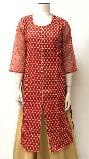 Brocade silk Kurta