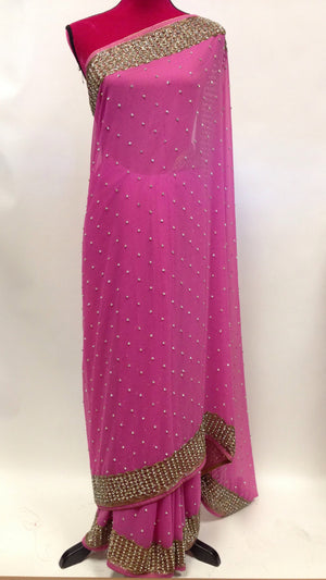Embroidered Georgette Saree - 3