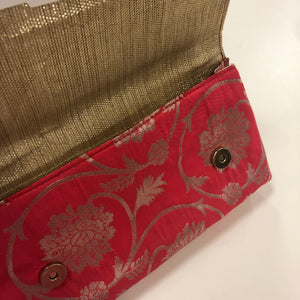 Brocade Silk Clutch with Kundan work