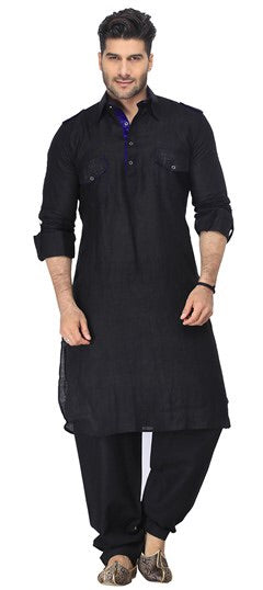 Mens Cotton Pathani Kurta Pajama Set
