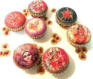 "DECORATIVE FESTIVE ""Prasad"" BOXES"