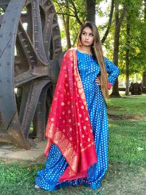 SILK PARTYWEAR MAXIDRESS