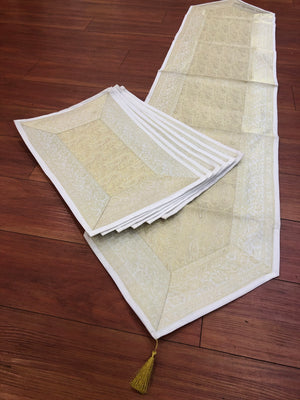 Brocade Table Mats And Runner set